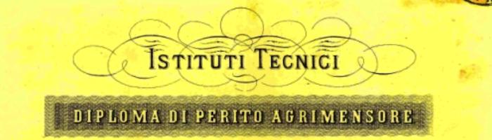 Diploma di Perito Agrimensore - particolare